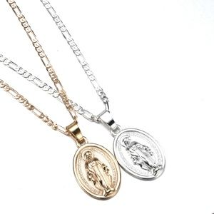 3/$30 Gold  Virgin Mary Miraculous Medal Necklace